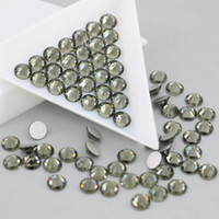 Wholesale Retail Christmas Decorations - Factory Retail Nail Nairt Excelent Quality Decoration Making All Size Round Black Dia Non Hotfix Crystal Rhinestone Beads