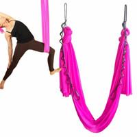ingrosso swing yoga anti gravità-Yoga Flying Swing Anti-Gravity Tessuto per amaca yoga Dispositivo di trazione aerea Amaca Equipaggiamento per modellare il corpo del Pilates