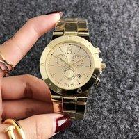 Wholesale wrist watches without calendars resale online - Fashion Brand women s Girl crystal dials style Date Calendar metal steel band Quartz wrist Watch P38