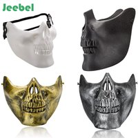 Wholesale silver skull face mask for sale - Group buy Jeebel pc Lower Half Face Scary Skull Skeleton Mask Halloween Party Cosplay Party Decor Masquerade Masks