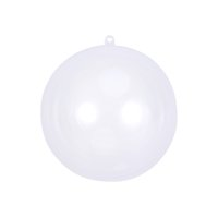 acryl weihnachtskugel ornamente großhandel-15 cm Durchsichtig Kunststoff Acryl Badebombe Mold Shells Moulding Balls Fillable Weihnachtsbaum Ornamente DIY Bad Bombe Formen