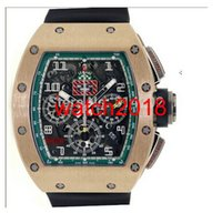 Wholesale flyback chronograph watch for sale - Luxury Watches New Flyback Chronograph Le Mans K RG Men Sports Watches Black Rubber Strap Mens Watch Wristwatches