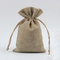 Wholesale vintage sack - Burlap Sack Gunny Thicker Vintage Retro Earring Necklace Ring Bracelet Jewelry Bags Candy Gift Bag Pouches Cell Phone Pocket