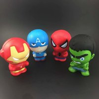 Wholesale man toys gadgets resale online - Fidget PU avenger Iron Man Captain America Hulk toys Squishy Slow rebound squishy Simulation Funny Gadget Vent Decompression MMA582