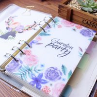Wholesale cartoon spiral notebook for sale - Group buy Cute cartoon plastic holes spiral notebooks dividers Kawaii office school index separate papers for person diary planner A5 A6
