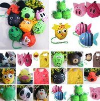 Wholesale dog bags roll - 16 styles New Cute Useful Fold bags Animal Bee Panda Pig Dog Rabbit Foldable Eco Reusable Shopping Bags Storage Bags I179