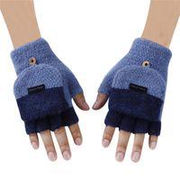 Wholesale womens knitted gloves resale online - Half Finger Men Womens Heated Gloves Detachable Knitted Mittens Gants Winter Warm Cotton Fingerless Gloves For Touchscreen D18110806