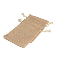 Wholesale Gunny Bags - 100Pcs 12x16cm Linen Drawstring Pouch Jewelry Bag,Christmas Wedding Gift Gunny Bag