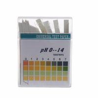ph-streifen lackmus-papier-test großhandel-100 Streifen 0-14 PH-Alkalisäure-Indikatorpapier Wasser Speichel-Lackmus-Testkit PH-Testpapier