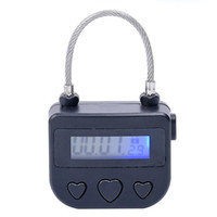 ingrosso addestramento bondage-Digital Timer Switch, USB Ricarica Multipurpose Timing Lock Chastity Lock BDSM Fetish per Bondage Slave Training Giochi per adulti Coppie Sex Toys