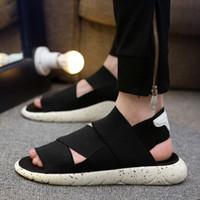 kore erkek sandalet toptan satış-Yaz hava sandaletleri, erkek Koreli versiyonu, spor ve boş zaman, Roma'nın ayak parmakları, plaj severler, terlikler