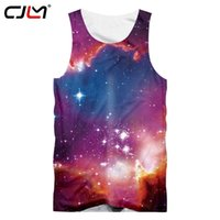 galaxy tank tops hombres al por mayor-CJLM Gimnasios Fitness Ropa Hombre Tank Top Galaxy Space 3D Chaleco estampado Hombres Tanktops Workout Singlets Fitness Sleeveless Shirt 5xl