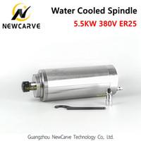fuso cnc refrigerado a água venda por atacado-GDZ-125-5.5 refrigerado a água do motor do eixo 5.5KW 380 V 125 MM de diâmetro ER25 para o router cnc NewCarve Spindle
