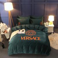 Wholesale silk bedding luxury comforter sets resale online - Luxury jacquard satin cotton silk BEDDING bedding set duvet cover SET bed sheet comforter set