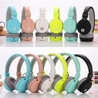 Wholesale Cute Girl Headphones - Newest EV-90 Cute Headphones Candy Color Foldable Kids Headset with Mic Earphone for Mp3 player Smartphone Girl Children Xiaomi EAR286