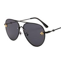 marcas de óculos de sol de boa qualidade venda por atacado-2019 Marca de design óculos de sol das mulheres dos homens designer de marca de boa qualidade moda metal óculos de sol de grandes dimensões vintage feminino masculino uv400.