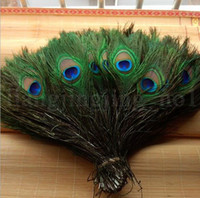 Wholesale accessories for clothes decoration - 25 -30 CM Peacock Feather DIY Clothing Decoration Plumage Craft Peacock Feather Elegant Decorative Accessories For Party Decoration KKA5219