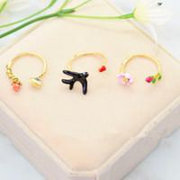 joyería de plata mexicana para hombres al por mayor-S925 Anillos de Compromiso Para Las Mujeres Joyería de Diseñador de Calidad Superior Floral Butterfly Swallow Anillo de Apertura Joyería de Boda de Lujo
