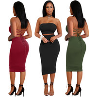 Wholesale plus size bodycon dresses cheap online - Women off shoulder dress summer new design sexy bodycon with a cheap price and plus size