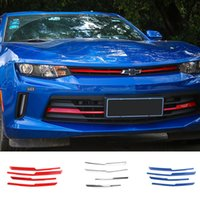Wholesale grille cover trim resale online - Front Grille Cover Strips Decoration Trim Exterior Accessories Stickers ABS For Chevrolet Camaro Up Car Styling