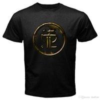 ingrosso moda giovani uomini neri-2018 New Fashion Brand Abbigliamento Design Tee ShirtNew STRAPPING YOUNG LAD Metal Rock Band T-shirt nera da uomo taglia S a 3XL