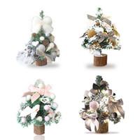 amerikanische bardekoration großhandel-Weihnachten American Style Schnee Weihnachtsbaum Dekoration Für Einkaufszentrum / Tisch Home Bars Schule Shopping Malls Festliche Geschenk
