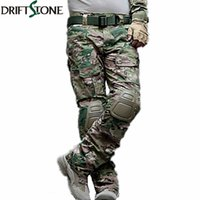 Wholesale army full combat uniform online - Camouflage Tactical Pants Army Uniform Trousers Paintball Combat Cargo Pants With Knee Pads