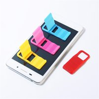 Wholesale phone stand folding online – Universal Foldable Mini Stand Portable Folding Holder For Cell phones Iphone4 s Samsung HTC