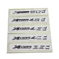 Wholesale bmw letters - Car Trim Styling Sticker For BMW X1 X3 X4 X5 X6 Series Xdrive 18d 20d 25d 28d 30d 35d 40d 45d 48d 50d Emblem Badges Logo Letters