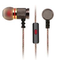 ingrosso cuffia di hifi del metallo di 3.5mm-Brand New KZ Metal Auricolare In-Ear Cuffie Sport Auricolari Auricolare Good Bass HiFi di alta qualità con microfono