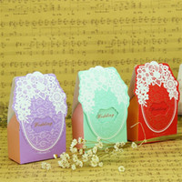 Wholesale chocolate gift packing online - Creative Folding Wedding Birthday Baby Shower Favor Packing Gift Boxes Party Supplies Candy Box Chocolate Present Wrap Colorful lt aa