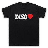 disco t shirts al por mayor-I LOVE DISCO MUSIC SLOGAN BAILE CLUB COOL RETRO MENS MUJERES NIÑOS CAMISETA Hombre Manga Corta Camiseta Top Camiseta