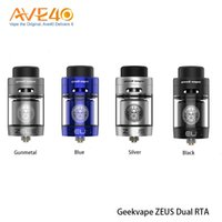 Wholesale upgrade system - Authentic Geekvape Zeus Dual RTA Tank Leak-proof Top Airflow System with Upgraded Postless Build Deck Easy Building for Single Dual coil