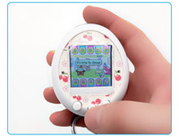 Wholesale electronics gaming resale online - Best Quality Qpet Colorful screen electronic pet gaming console For Kids Cute game Console for child digital pet egg vs tamagotchi