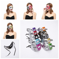 Wholesale roman women costumes online - Roman Gladiator Mask Half Faces Mask Halloween Costume Party Mask For Women Men Venetian Mardi Gras Masquerade AAA1261