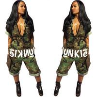 ingrosso rompers americani-American Hot Women Fancy Camouflage Stampa Pagliaccetti Tuta da donna Tuta con scollo a V Tuta da donna