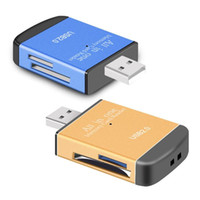 Wholesale Microsd Sdhc - All in one card reader  Multi in 1 card reader SD SDHC,MMC RS MMC,TF MicroSD MS PRO MS DUO card reader