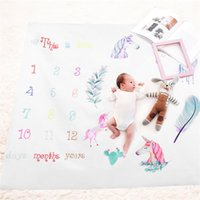 Wholesale fashion photographs - Photography Prop Blanket Newborn Children Photograph Rug Growth Record Print Playmats For Girls Boys Fashion Mileage Carpets 19fdb jj