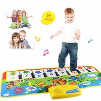 tapis de jeu en plastique achat en gros de-Éducation Jouet en plastique enfants jouet Nouveau Touch Play Clavier Musique Musicale Chant Gym Tapis Tapis Meilleur Enfants Bébé Cadeau