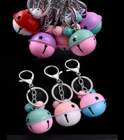 Wholesale lobster clasp for key chains - 2018 Key Chain Clasp Bag Purse Key Rings With Round Hollow Bells Christmas Bell Lobster Clasp Jewelry Component For Girl Free DHL G232S