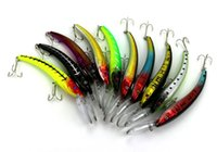 walleye bass minnow lures Canada - 10PCS Swimbait 3D Minnow Deep Diver Lure 15.5CM-16.3G for Saltwater Freshwater Bass Trout Walleye Salmon Musky Fishing