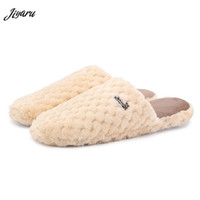 напольные ботинки оптовых-2018 Hot Sale Male Winter Warm Indoor Slippers Men Home Slippers Men Floor Shoes for Bedroom Male Soft Home Shoes