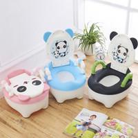 junge säuglingspanda großhandel-Baby Infant Kleinkind Kind Panda Urinale Töpfchen Sitz Wc Junge Stehen Vertikale Pinico Orinal Kinder Panda Badezimmer Töpfchen