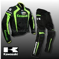 Wholesale Motorcycles Mans Racing Suits - Latest KAWASAKI Kawasaki motorcycle racing suit popular brands windproof clothing warm clothes Blade riding suit