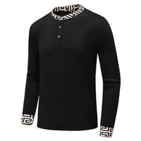 camisetas de marca al por mayor-Diseñador de lujo Puentes Hombres Cuello redondo Manga larga Pantalones delgados Envío gratuito Marca Homme Ropa M - 3XL jerseys de punto