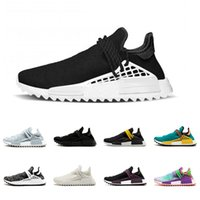 Wholesale core light green - Black Colette Human Race trail Running Shoes Men Women Pharrell Williams HU Runner Yellow Nerd core Black White Red sports runner sneaker