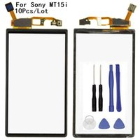 Discount touchscreen digitizer parts - 10Pcs Lot Touch Screen Digitizer Front Glass Panel For Neo V MT15i MT11i MT15 Touchscreen Sensor Part