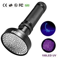 luz negra ultrafire venda por atacado-18 W Luz UV Preto Lanterna 100 LED Melhor Luz UV e Blacklight Para Casa de Inspeção Do Hotel, Urina de Pet Stains LED holofotes