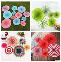 Hanging paper flowers crafts canada best selling hanging paper 6pcs set colorful hanging flower paper fan set birthday party wedding festival decoration hanging flower paper crafts decoration mightylinksfo