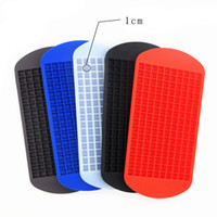 Wholesale square ice cube - Ice cube mold grids square shape silicone ice cube tray diy creative fruit ice cube maker bar kitchen